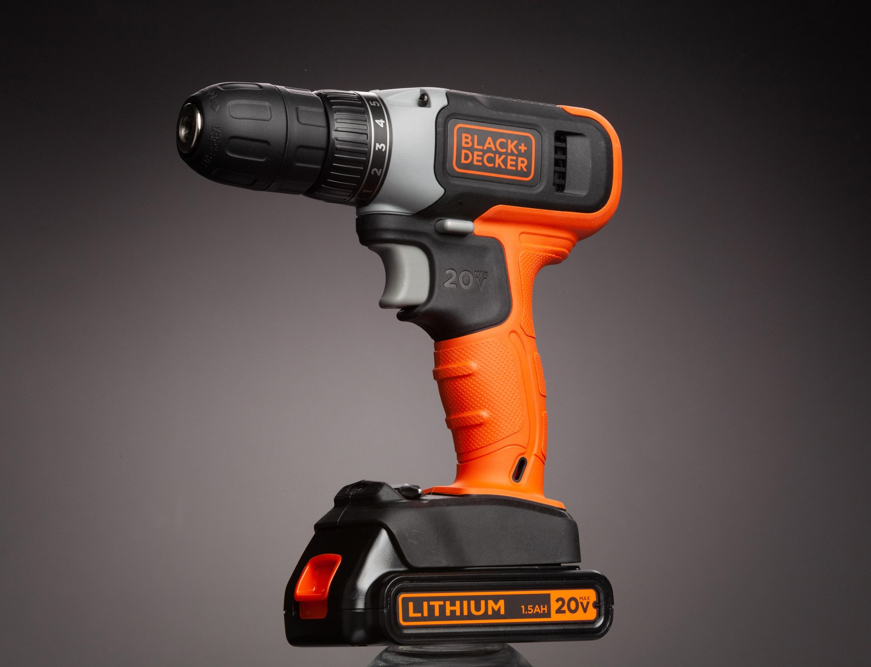 initial shot of black and decker drill
