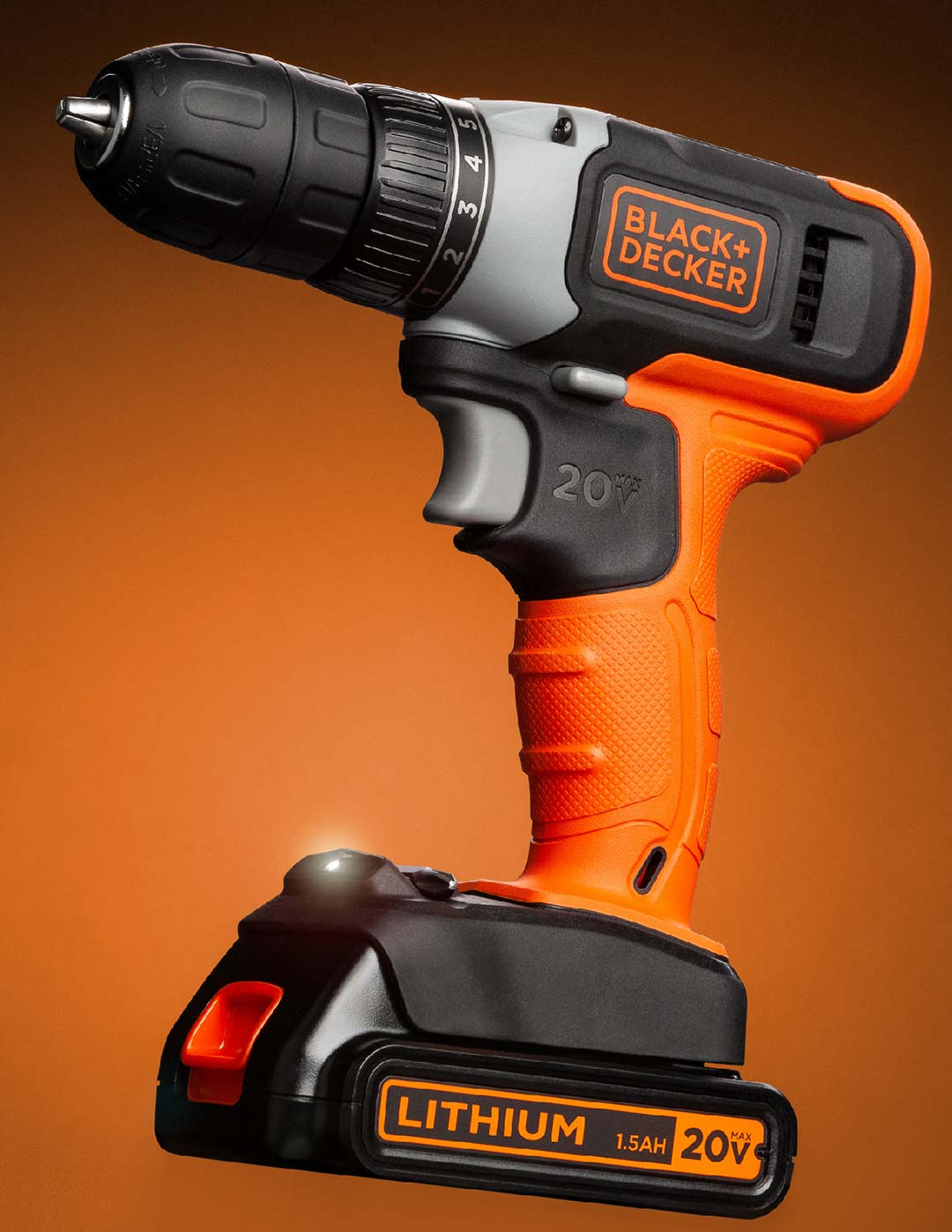 Spec shoot for Black and Decker cordless drill done in studio at Greywood Photography