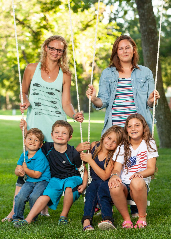 moms & kids family portrait