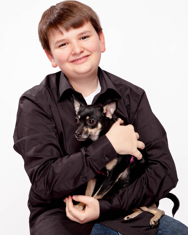 portrait with doggo