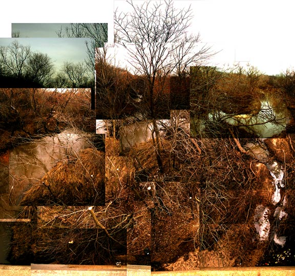 landscape photo collage circa 2001