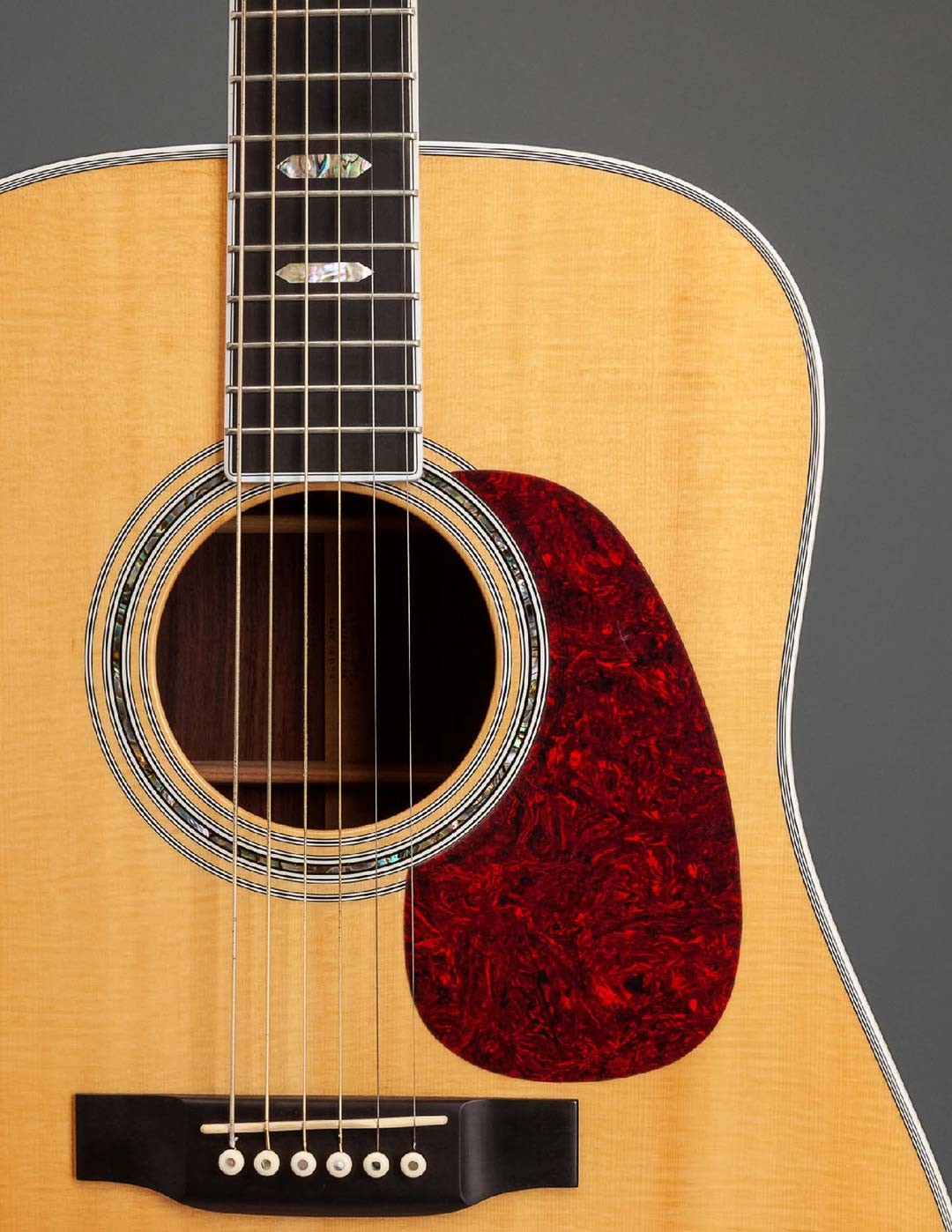 detail shot of martin guitar